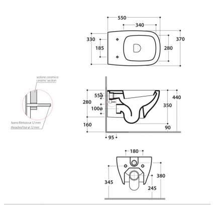 Унитаз подвесной Globo Genesis GES02.BI белый