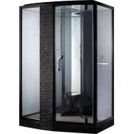 Душевая кабина Orans SR-89102 LS 150x100 с баней, левая, черная