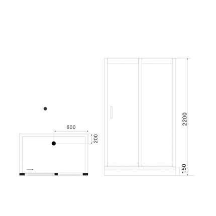Душевая кабина Black&White G5509 120x90