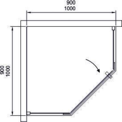 Душевой уголок Black&White S305-900 90x90