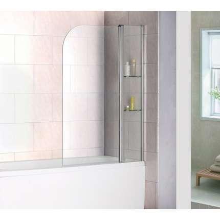 Шторка на ванну RGW SC-07 100х150 прозрачное стекло