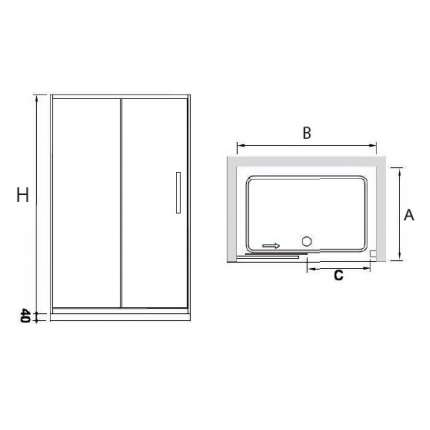 Душевая дверь RGW CL-12 140х185 прозрачное стекло