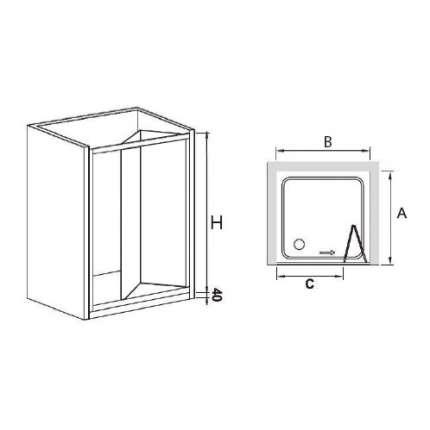 Душевая дверь RGW CL-21 (86-91)х185 рифленое стекло