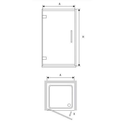 Душевая дверь RGW HO-01 60х195 прозрачное стекло