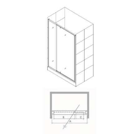 Душевая дверь RGW PA-02 (97-110)х185 прозрачное стекло