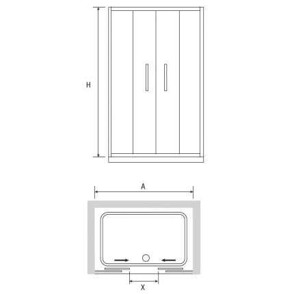 Душевая дверь RGW PA-11 200х195 прозрачное стекло