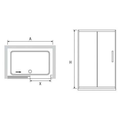 Душевая дверь RGW PA-12 130х195 прозрачное стекло