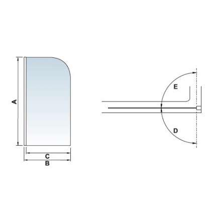 Шторка на ванну RGW SC-01 100х150 прозрачное стекло