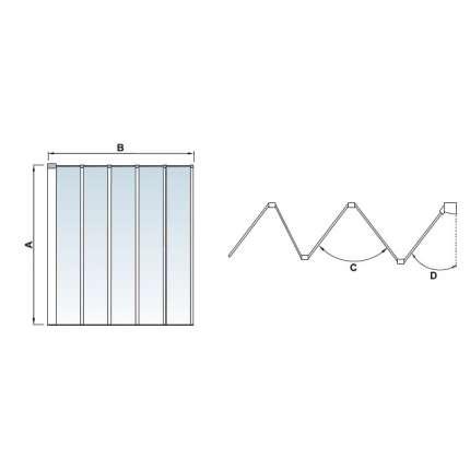Шторка на ванну RGW SC-22 120х150 прозрачное стекло