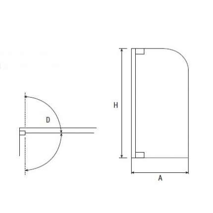 Шторка на ванну RGW SC-36 70х150 прозрачное стекло