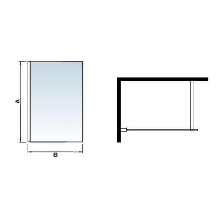 Шторка на ванну RGW SC-51 80х150 прозрачное стекло