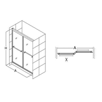 Душевая дверь RGW TO-10 200х195 матовое стекло