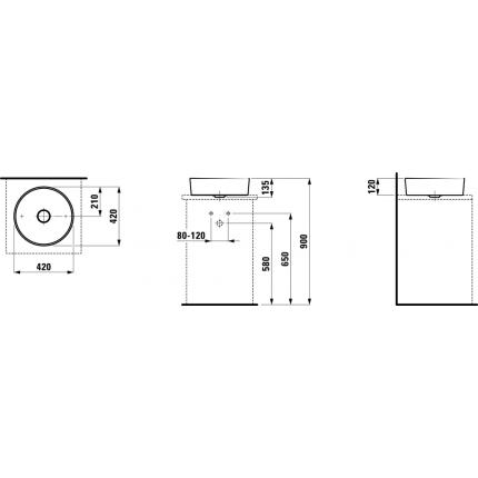 Раковина Laufen Kartell 8.1233.1.000.112.1