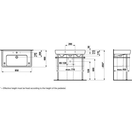 Раковина Laufen Pro 8.1395.6.000.104.1