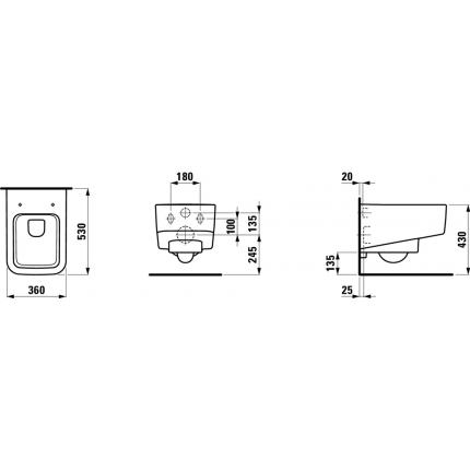 Унитаз подвесной Laufen Pro S 8.2096.2.000.000.1