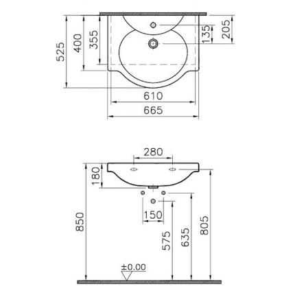 Раковина Vitra Arkitekt 4047B003-0001