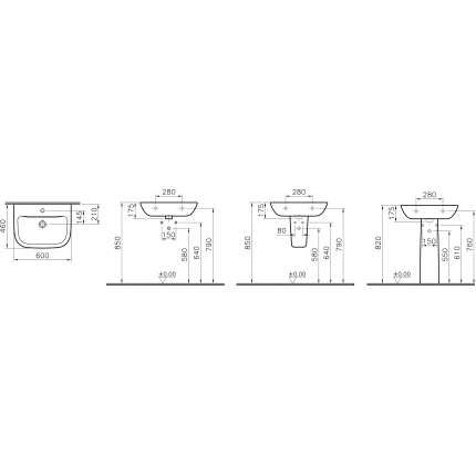 Раковина Vitra S20 5503B003-0001