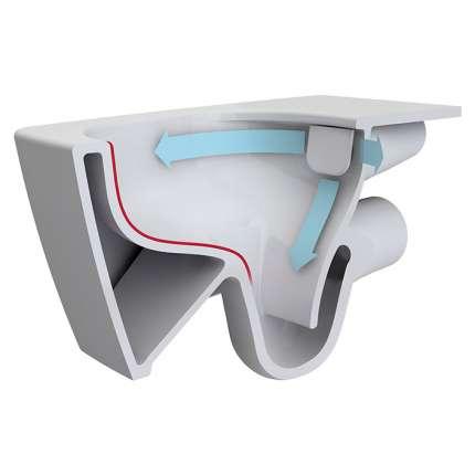 Унитаз подвесной VitrA S20 9004B003-7202 безободковый, с инсталляцией и сиденьем микролифт