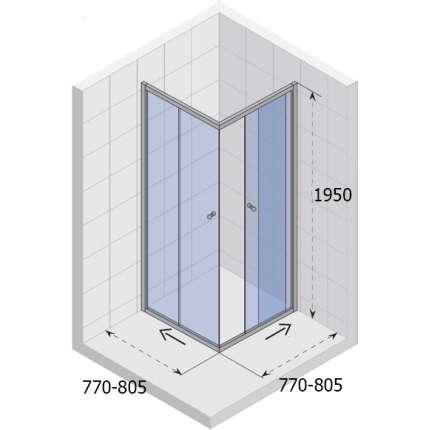 Душевой уголок Riho Hamar GR53200 80x80 см