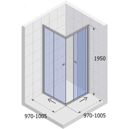 Душевой уголок Riho Hamar GR56200 100x100 см