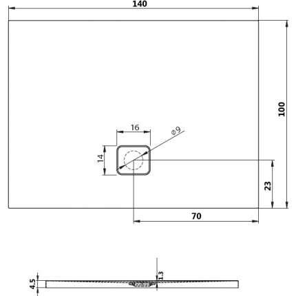 Душевой поддон Riho Basel 434 140x100 см