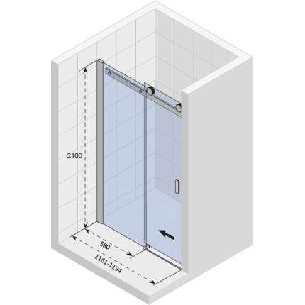 Душевая дверь Riho Baltic B104 118x210 см