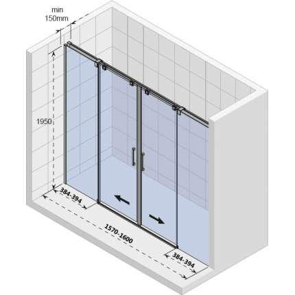 Душевая дверь Riho Ocean O115 160 см