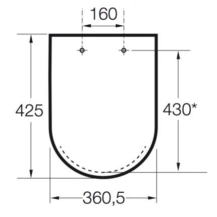 Крышка-сиденье для унитаза Roca Dama Senso 801512004 с микролифтом