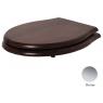 Сиденье для унитаза Azzurra Jubilaeum/Giunone 1800NM/F noce/cr с микролифтом, хром