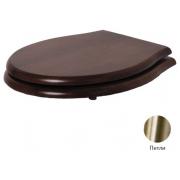Сиденье для унитаза Azzurra Jubilaeum/Giunone 1800NM/F noce/br с микролифтом, бронза