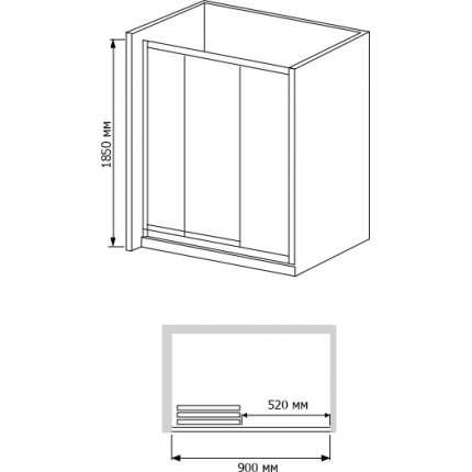 Душевая дверь RGW CL-11 (86-91)х185 рифленое стекло