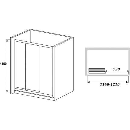 Душевая дверь RGW CL-11 (116-121)х185 прозрачное стекло