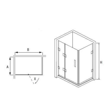 Душевой уголок RGW HO-44 80х100