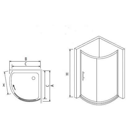 Душевой уголок RGW PA-56 80x80 прозрачное