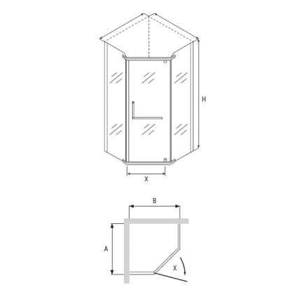 Душевой уголок RGW PA-81 100x100 прозрачное